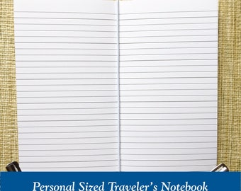Personal Size Lined Paper Traveler's Notebook Insert