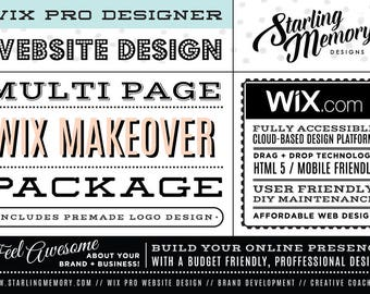 RESERVED FOR RACHEL - 4 Page Wix Website Makeover - Wix WebDesign Package - Wix Pro - Wix Website Clean Up - Wix Pro Design Service
