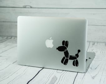Balloon Dog Macbook Decal - Balloon Dog Decal - Balloon Dog Vinyl - Balloon Dog Sticker - Macbook Decal