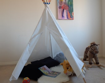 Childrens Teepee Play Tent, Tipi, Teepee, Wigwam, Play Tent, Teepee with painted poles,Tent