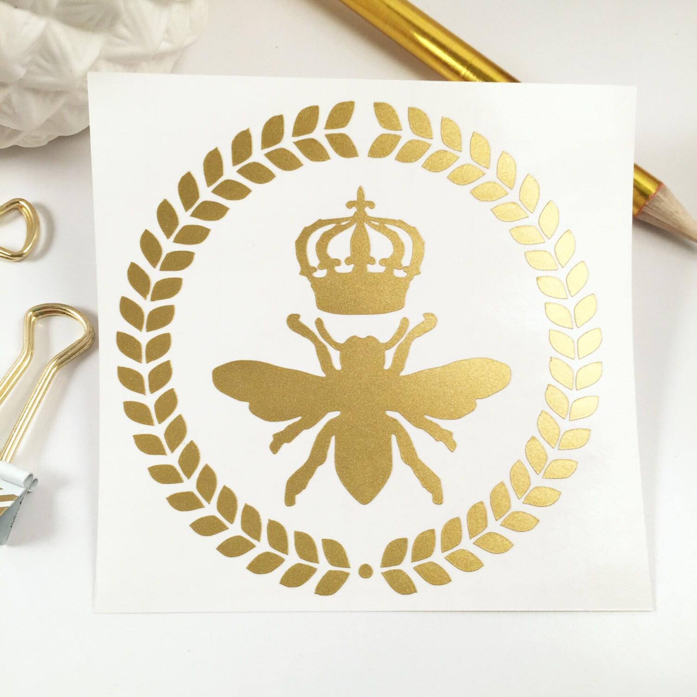 Queen Bee Decal Monogram Decal Monogram Sticker Monogram - Monogram decal for car window