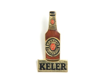 Beer enamel pin, beer lapel pin, drinking pin, backpack pin, enamel pin, bottle enamel pin, bottle lapel pin, bottle enamel badge