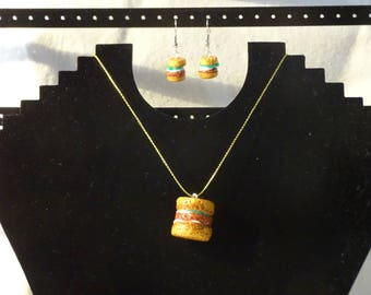 set pendant necklace and earrings