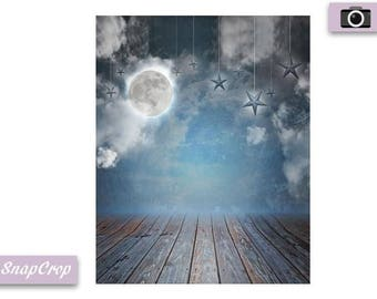 Goodnight Moon and Star Photography Backdrop