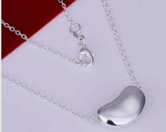Casual wear Sterling Silver Necklace,Beautifully Necklace, Trendy Chain Necklace, Lady's Chain Necklace [ Free Shipping]