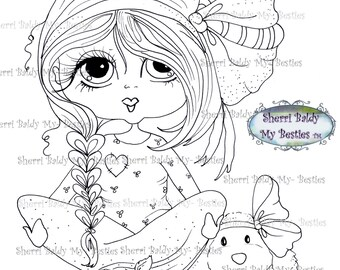 INSTANT DOWNLOAD Digital Digi Stamps Big Eye Big Head Dolls Digi  My - Besties Blakely Ann Img4672 By Sherri Baldy