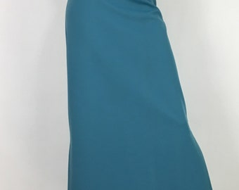 1960s maxi skirt/vintage maxi skirt/60s polyester maxi