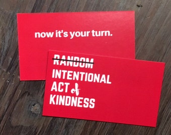 Intentional Act of Kindness calling cards, pack of 8