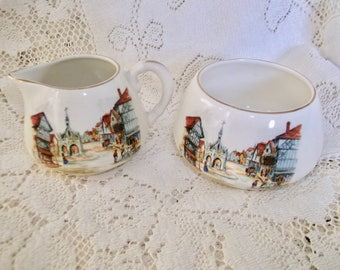 Sandland Ware Cream and Sugar England