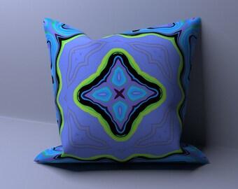 Purple Pillow Cover - Outdoor Pillow - Teal Pillow Case - Decorative Sham - Cushion Cover - Bed Toss Pillow - Throw Pillow - Modern Pillow