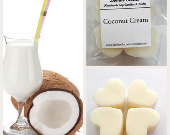 Coconut Cream. Soy Wax Melts. Home Fragrance.