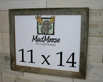 "11x14 Barn Wood [Thin x 1.25""] Picture Frame... (aka Gray Wood Shabby Chic Frame, Weathered Wood Frame, Reclaimed Wood Furniture)"