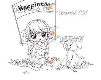 Happiness - Digital Stamp