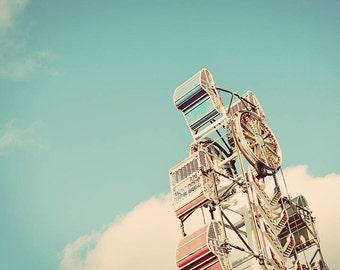 Fair Photograph, Carnival Photography, Ferris Wheel, Carousel Photography, Fine Art Photograph, Carnival Photo