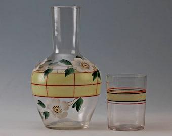 Nachtglas, water carafe, antique, Biedermeier