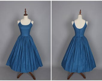 Penelope Dress in Solid Air Force Blue
