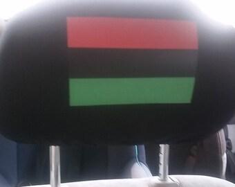 One RBG Pan African Flag headrest cover
