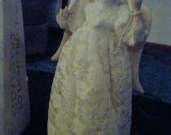 Vintage Sylvestri Christmas Tree Topper Angel 10 Light Box Taiwan Porcelain Works