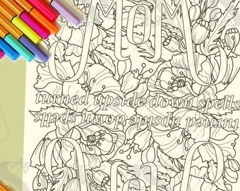 Mom Wow & Mother's Day Coloring Pages | Kids Coloring | Adult Coloring | Digital Download