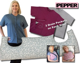 Breast Cancer Gift 3 Pack After Surgery MASTECTOMY PILLOW & t SHIRT Underarm Support Breast Cancer Post Op Mastectomy Care (pS)