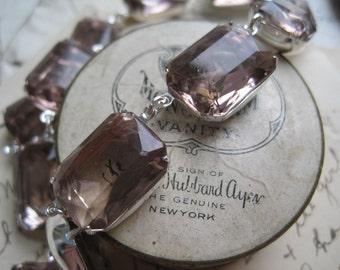 Purple Statement Necklace, lavender necklace, collet necklace, Anna Wintour necklace, light amethyst necklace. Spring Fling