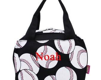 Monogram Lunch Bag Baseball Lunch Bag
