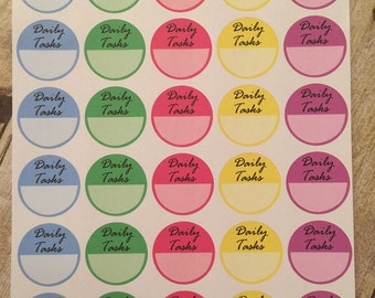 NU Sticker Sheet | Planner Stickers - Daily Task Reminders