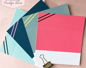 Printed Matching Envelope Liner | A2 Sized Liner | Bridesmaid Liner | Decorative Liner | Pretty Card Envelope | Wedding Stationery Envelopes