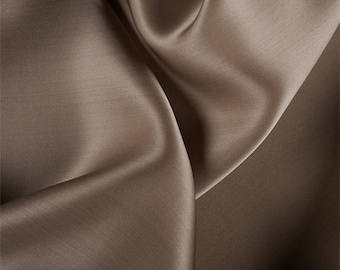 Latte Silk Satin Organza, Fabric By The Yard