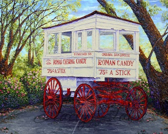 Roman Candy Wagon - matted to fit 11x14 - PRINT