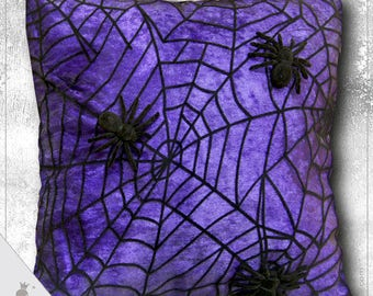 Spider - gothic style decorative pillow
