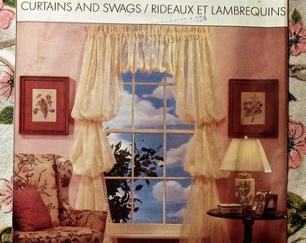 Simplicity House 8996 Sewing Pattern 1989 Curtains and Swags