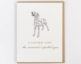 spotted you greeting card