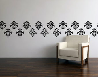Wall Decals   Vinyl Wall Paper   Damask Wall Decal   Vinyl Damask 0008