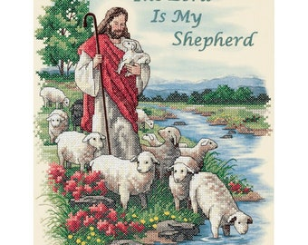 Dimensions Stamped Cross Stitch Kit - The Lord Is My Shepherd