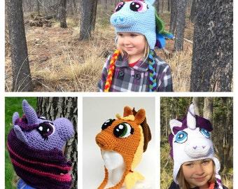My Little Pony - Custom Crochet Hat - Baby-Adult