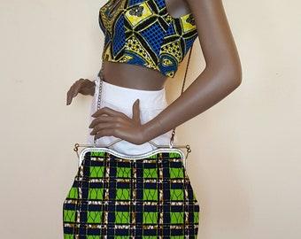 African wax bag.