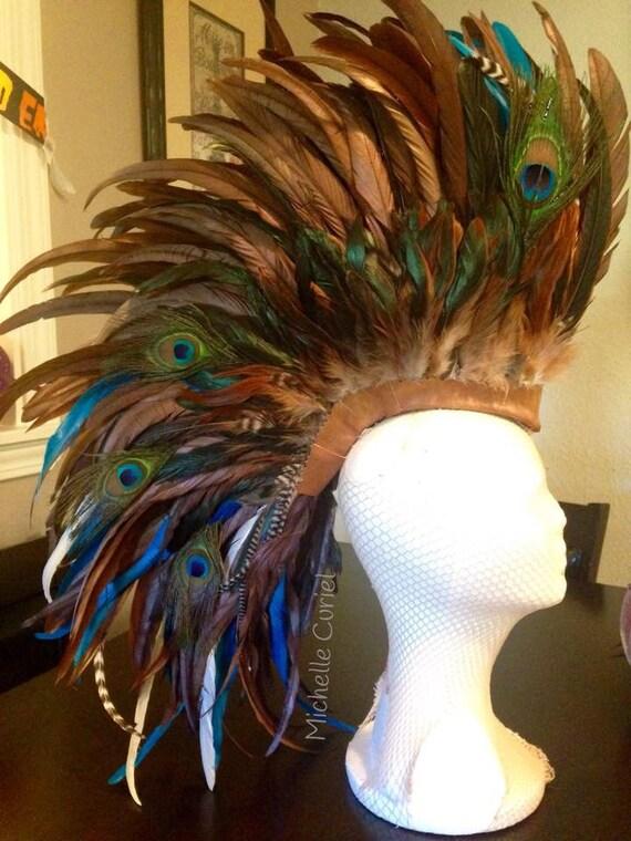 "Customizable Feather Mohawk / Headdress - ""Jocelyn"""