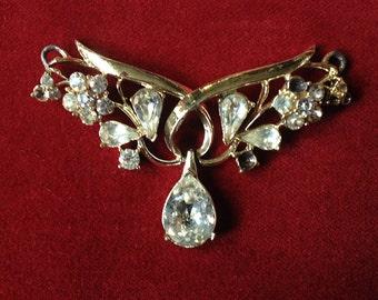 Vintage rhinestone centerpiece pendant
