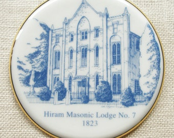 Franklin, TN, Ornament Features the Historic Hiram Masonic Lodge