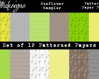 Sunflower Sampler Digital Paper Pack