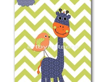INSTANT Giraffe DOWNLOAD Art Baby Nursery Decor Nursery Digital Print Baby Boy Nursery Decor Printable Art Digital Download Art 8x10 11X14