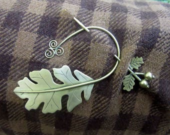 Brooch, Oakleaf Brooch, Celtic Bro0ch, Hair Pin, Hat Pin, Shawl Brooch, Scarf Pin, Celtic Accessorie, Viking Brooch