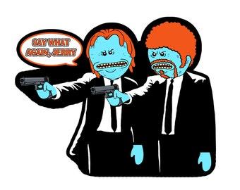 Pulp Fiction Parody Magnet