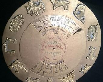 Brass Calendar 100 Year Calender Made in India