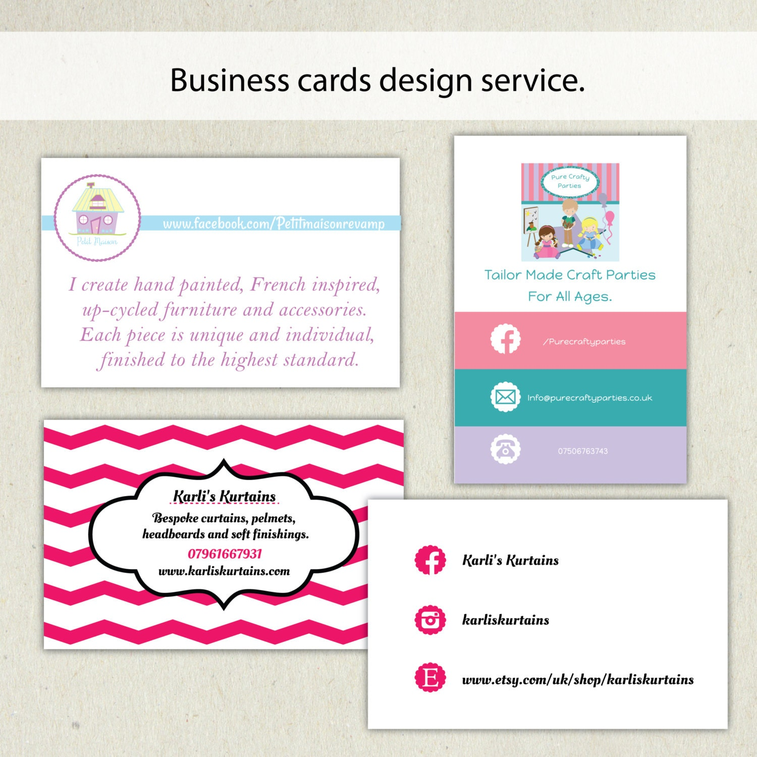Business card design service business card template