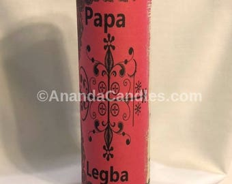 Hoodoo Papa Legba Veve Fixed 7 Day Candle Voodoo Witchcraft