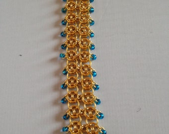 Golden Blue Visions Bracelet