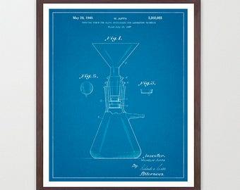 Science Patent - Beaker - Science Poster - Chemistry Poster - Science Art - Science Wall Art - Lab - Laboratory - Organic Chemistry