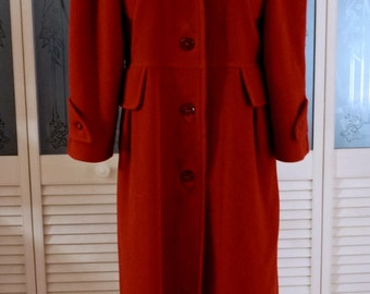 French Designer Vintage  Courreges Wool Winter Military Trench Coat